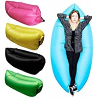 SHREVI IMPEX Nylon Inflatable Lounger Portable Hammock Sofa with Water Proof, Anti-Air Leaking Design Couch and Beach Chair Camping Accessories for Parties Picnic and Festival (Standard)