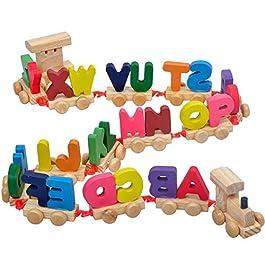 1 Trenino Lettera Treno di legno della lettera di alfabeto treno ABC del pavimento del treno puzzle