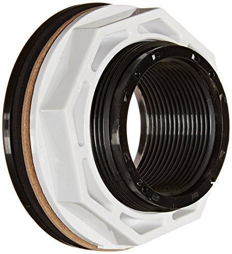 Hayward SP1023BLK FIP Einlass-Rücklaufgarnitur mit Gegenmutter und Dichtung, 3,8 cm, Schwarz