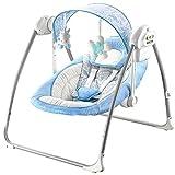 Elektrische Automatik Babyschaukel Unicorn blau verstellbar Schaukelstufen Melodien Naturgeräusche für Jungen