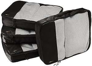 AmazonBasics Packing Cubes/Travel Pouch/Travel Organizer- Large, Black