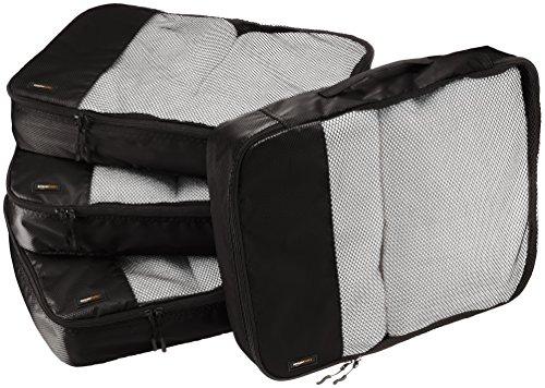 AmazonBasics - Bolsas de equipaje grandes (4 unidades), Negro