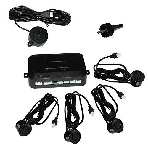 Hengda® Auto Parksystem Einparkhilfe PDC Rückfahrwarner Rückparkhilfe 4 Sensoren Lautsprecher