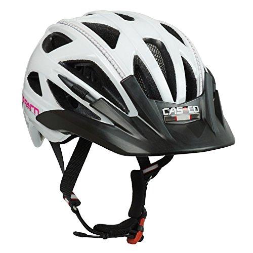 Fahrradhelm für Kinder Casco Activ 2 Junior, weiß-pink glanz - Biese silber, Gr. S (52-56 cm)