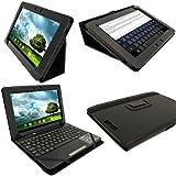 "igadgitz Negro 'Portfolio' Eco-Piel Case Cover para Asus Eee Pad Transformer Pad & Base Dock Teclado TF300 TF300T TF300TG & TF300TL 10.1"" Android Tablet"