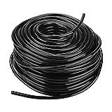 Zerodis Tropfbewässerung Schlauch Bewässerungsrohre 4/7mm PVC Flexible Micro Drip Tubing für Landwirtschaft Rasen Garten Bewässerung(50M)