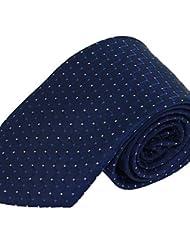 WZW Cravate Vintage / Soirée / Travail / Décontracté Polyester.Homme Rayé.Bleu Toutes les Saisons