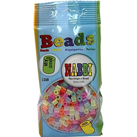 Nabbi fusione di perline in plastica, con Glitter, 1100 pezzi