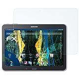 atFolix Panzerfolie für Samsung Galaxy Tab 4 10.1 (WiFi, 3G & LTE) Folie - 2 x FX-Shock-Clear stoßabsorbierende ultraklare Displayschutzfolie