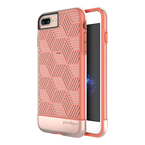 "Apple iPhone 8 PLUS (2017) 5.5"" & iPhone 7 Plus & iPhone 6 / 6s Plus 5.5"" case, Prodigee [Stencil] Rose Gold Schutz dünn Hülle Stück dünner dünn Phone Case w/ Geometric shapes Pink"