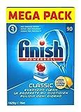 Finish Classic 90 Tabs Lemon è Il detergente Finish Tab più tradizionale: entra in azione con efficacia per offrire una pulizia profonda. Per un risultato perfetto utilizzalo insieme a Finish Sale e Finish Brillantante.