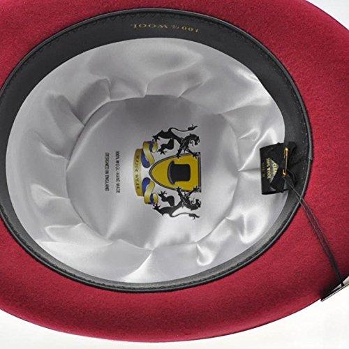 Premium Traditionnel English Chapeau melon Mariage Accessoire Habillé Occassion Rouge