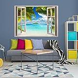 Decomonkey: Optische Täuschung/ Weitblick 3D Fensterblick ca 140x100 cm Wandbild Fototapete Tapete Poster XXL3D Vlies Leinwand Panorama Bilder DekorationTOC0016aM