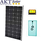 AKT Solar with 140 W 12 V SOLAR PANEL KIT WITH 20 A Charge Controller + 5 M cable