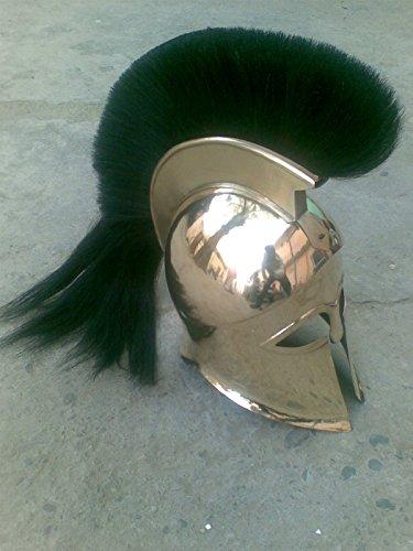 Nauticalmart Das griechische korinthischen Helm mit Feder Messing Antike Helm (Kostüme Griechischen Helm)