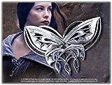 H.d.Ringe Fashion - Arwen Abendstern (Undómiel) Schmetterlings-Brosche, versilbert, mit Anstecknadel, der Hobbit