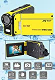 Jaytech 77007408 Wasserkamera (WHDV 5000, 5 Megapixel, CMOS Sensor, Full HD, 1920x1080p) gelb