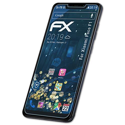 atFolix Schutzfolie kompatibel mit Xiaomi Poco F1 Panzerfolie, ultraklare & stoßdämpfende FX Folie (3X)