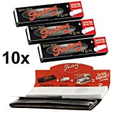 Smoking - 10 set deluxe con cartine king-size e filtri per sigaretta (10x 33/34)