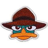 Minoda Phineas y Ferb emblema cara grande anfibio Hierro y sellar - D01Y5954 grande
