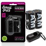 SmugPets - 30 Bolsas para excrementos con dispensador - Grandes, sin Perfume y antigoteo - 2 Rollos