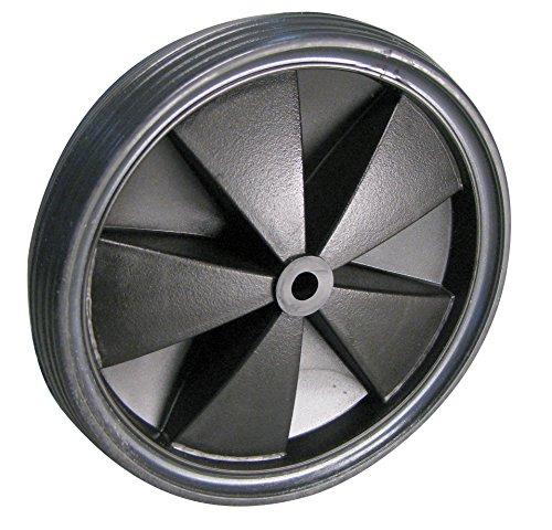 Dörner + Helmer 709155L Leichtes Rad, PVC-Bereifung mit Kunststofffelge, Schwarz