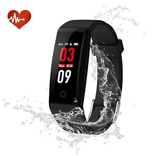 Youngdo Fitness Tracker/Fitness Armband mit Farbe-Touchscreen, Wasserdicht IP67 für genaue Herzfrequenzmessung und Schlafüberwachung, als Schrittzähler, Kalorienzähler und Vibrationsalarm für Herren, Damen, Kinder