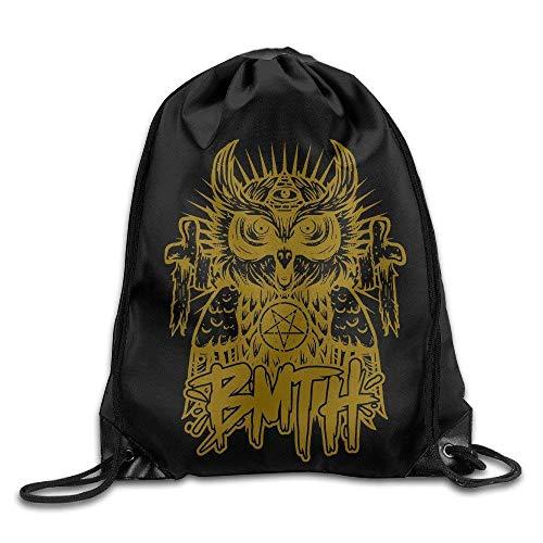 Setyserytu Sporttasche mit Kordelzug, Sportrucksack, Reiserucksack, Athletic Bring Me The Horizon OWL Drawstring Bag Cinch Sack Horizon-lager