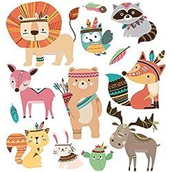 HERGON Lovely Animal Patches für Kinder Kleidet 's DIY Aufkleber, Eisen auf Patch Badge Aufnäher für Tasche hat Jeans Patch Applikation Decor, 70#