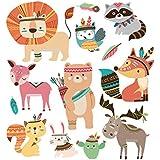 Hergon - Parches de animales para ropa de niños, pegatinas de bricolaje, parche de planchado para bolsos, sombreros, vaqueros, decoración de apliques, 70#