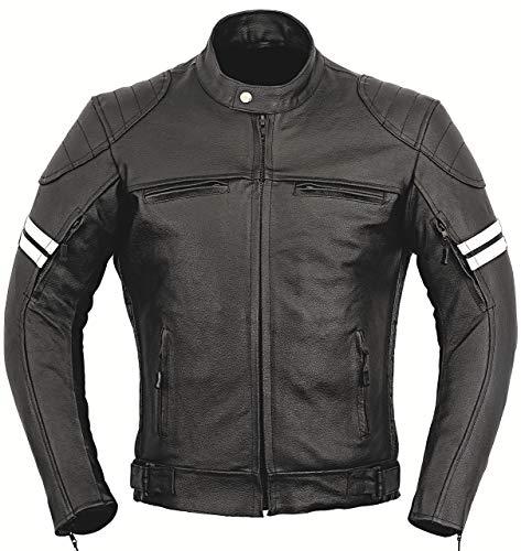 Giacca di pelle di Franklin, protezione per la moto Black Taglia unica