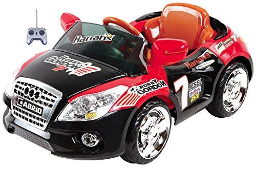 Mario Schiano Auto Elettrica Cabrio Nera/Rossa bambino 6V con radiocomando