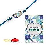 #8: TiedRibbons Rakhi Gifts | Gift for Rakhi | Rakhi for Brother | Rakshabandhan Gift for Brother | Rakhi Gifts | Gift for Rakhi Handmade Rakhi with Roli chawal Pack and Rakshabandhan Special Placard