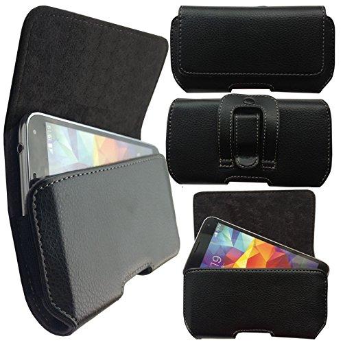 MOELECTRONIX 1A Gürtel Seiten Quer Tasche Belt Cover Case Schutz Hülle Etui für Sony Xperia XZ3
