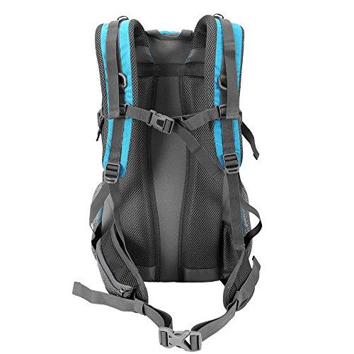 Duhud 40 Liter Wasserdicht Wanderrucksäcke leichtgewicht Rucksäcke Mit Regen Abdeckung Himmelblau