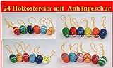 Ostereier Strauchbehang 24 Stück bunte Ostereier Osterdeko 2017 dezente Pastellfarben