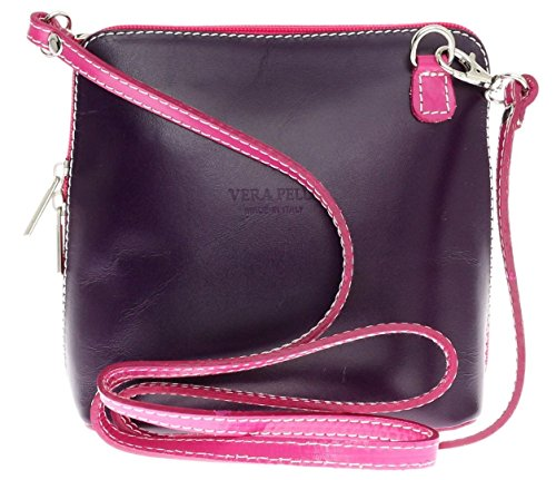 Saile's, Borsa a tracolla donna Purple with Fushia