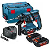 Bosch GBH36V-EC Compact Brushless 36V Li-ion SDS Plus Rotary Hammer Drill (3 x 2.0Ah Batteries)