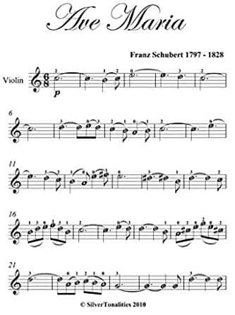ave maria schubert easy violin sheet music (english edition) ebook :  schubert, franz, silvertonalities: amazon.de: kindle-shop  amazon