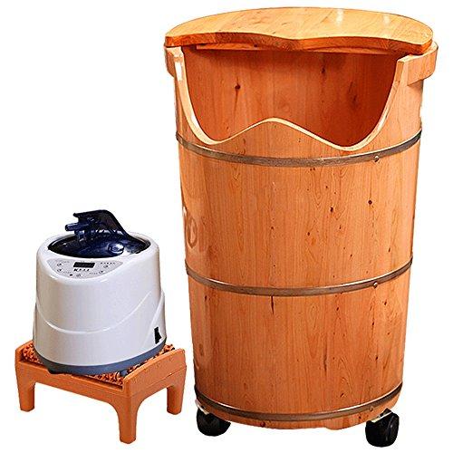 Preisvergleich Produktbild sexy Fußbad Barrel Erhöhung Mit Abdeckung Konstante Temperatur Fuß Badewanne Heizung Begasung Füße Eimer Dampf Fuß Bad Barrel Haushalt (größe : 50 cm)