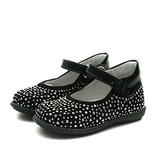 SB158 Studio BIMBI Girls Smart Dolly Shoe w/Studding Detail in Black Taglia 21