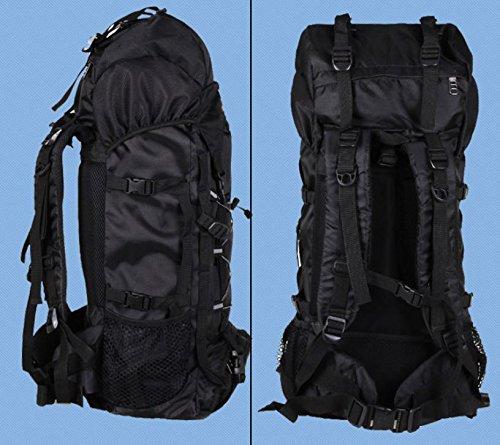 BM Outdoor Professionelle Bergsteigen Tasche 50L 60Liter Reise Camping Wandern Rucksack Mode Rucksack Pack schwarz