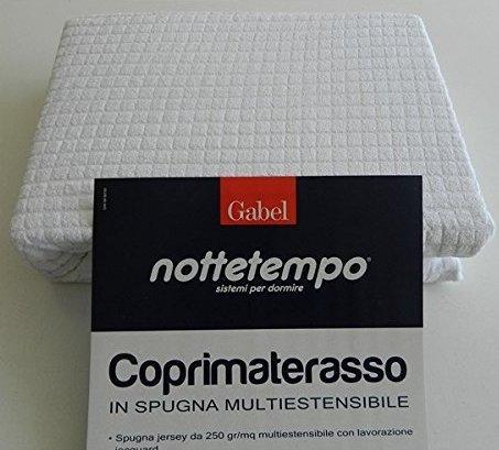 + Gabel Jersey Coprimaterasso, Cotone, Bianco, 175 x 200 x 0.4 cm prezzo