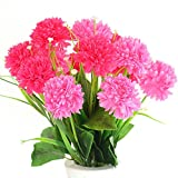 #6: Ashiyanadecors Artificial Carnation Bunch Pink 14 Flowers Natural Looking for Home & Garden Décor