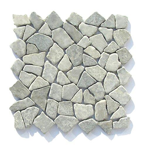 Mosaikfliesen - M-010 Marmor Naturstein-Badezimmer Fliesen Bruchstein Mosaik Bodenfliesen Wandfliesen -