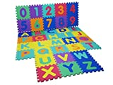 Alphabet Numbers EVA Floor Mat Baby Room Jigsaw Play Mat Soft Foam Large Tiles
