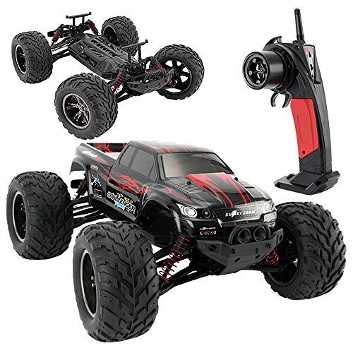 RCZYBZ Fernbedienung Auto, RC 1:12 Auto Truck Buggy Challenger Funkfernsteuerung 2,4G Monster 42 km/h für Kinder Erwachsene im Freien - Rot (Teppich-fliesen Im Freien)