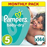 Pampers Baby-Dry Nappies Monthly Saving Pack - Size 5, Pack of 144 Bild