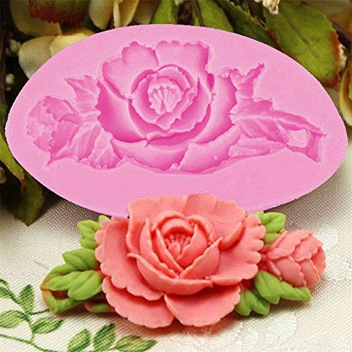 Chinget 3D Blumen Motive DIY Silikon Ausstechformen Muffin Torten Schokolade Keks Gelee Mini-Cupcake Rosen