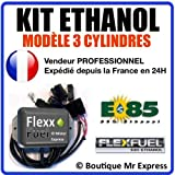 Kit Ethanol Flex Fuel - E85 - Bioethanol - 3 Cylindres + Interface de Diagnostic ELM327 - Compatible avec Renault, Peugeot, Citroen, Ford, BMW, Audi. (Bosch EV1)
